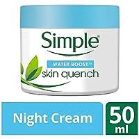 [Simple ] シンプルな水ブースト睡眠クリーム顔の保湿クリーム50Ml - Simple Water Boost Sleeping Cream Face Moisturiser 50ml [並行輸入品]