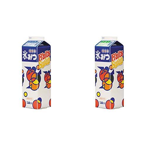【セット買い】ハニー氷みつA ハワイアンブルー 1.8L & メロン 1.8L