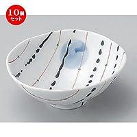 10個セット 黒一珍平小鉢 [ 12 x 11.5 x 5cm 136g ] 【 小鉢 】 【 料亭 旅館 和食器 飲食店 業務用 】