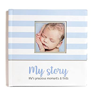 LovelySprouts First Year Baby Memory Book & Baby Journal (3 Color Styles Available). Perfect For Boys Or Girls Baby Shower Gift. First 5 Years Scrapbook, Keepsake & Photo Journal