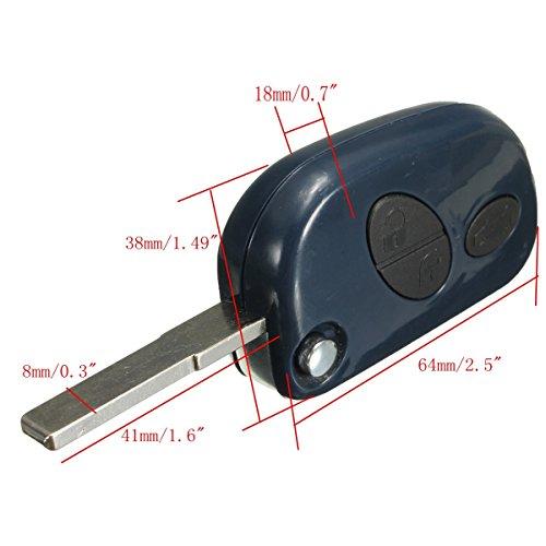 3 ボタン車リモートフリップキー fob シェル ケース包茎ブレード用マセラティ RX2TRF937