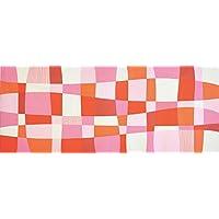 加藤萬 和雑貨 祝い文 手拭い ひねもすのたり ピンク 35×90cm H1070