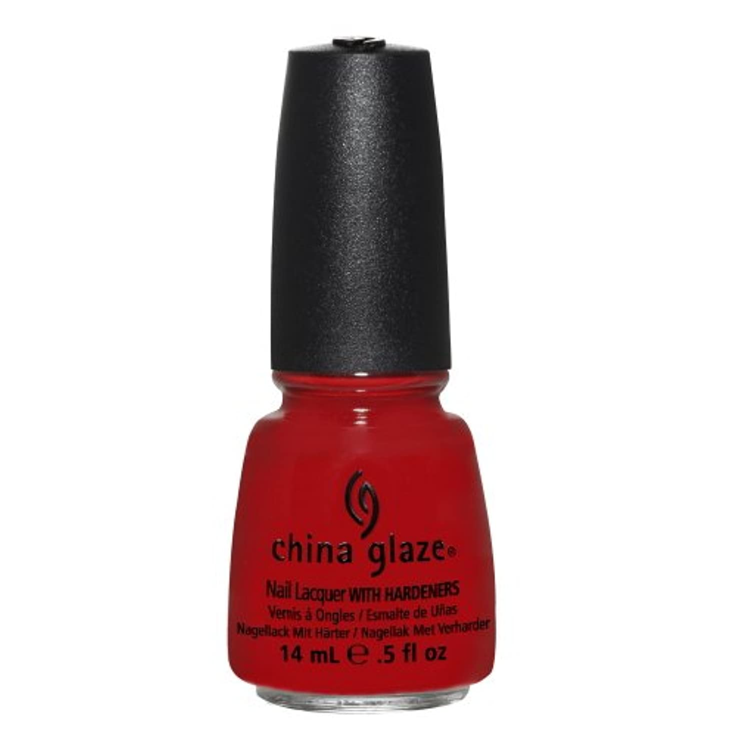 みなさん二週間中傷CHINA GLAZE Nail Lacquer with Nail Hardner - High Roller (並行輸入品)
