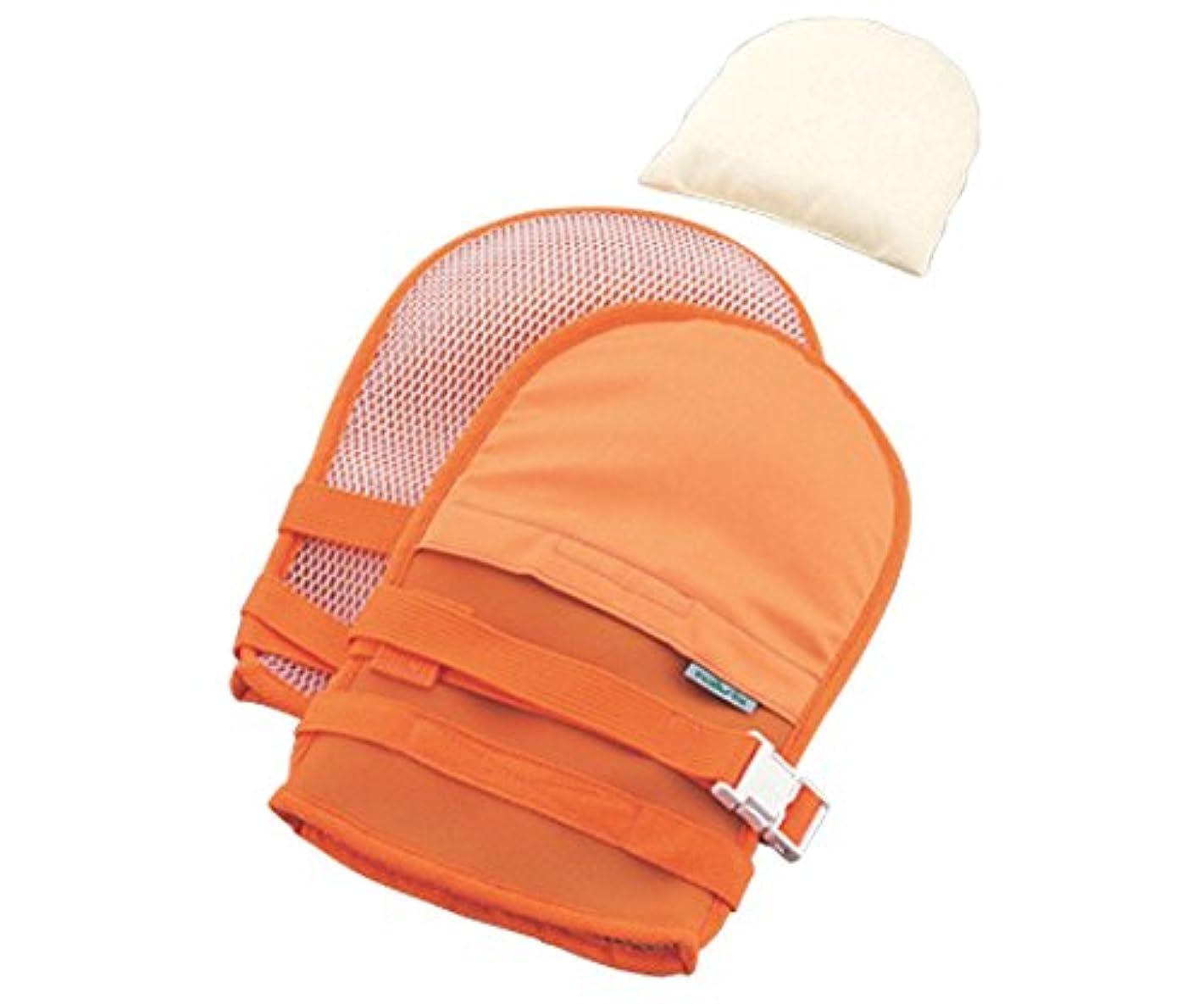 平手打ち静かに拡散する抜管防止手袋 中オレンジ /0-1638-42