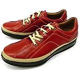 [ボブソン] 靴 レザースニーカー ウォーキングシューズ 紐 本革 3E カジュアル[レッド/バーガンディ]bo5422 スニーカー