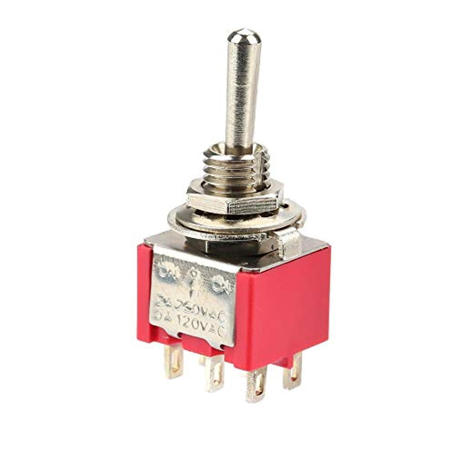 オッズレキシコンモールス信号6mm MTS-203ミニトグルスイッチカバー、10個のトグルスイッチ、家電車用のプロの瞬間6ピン