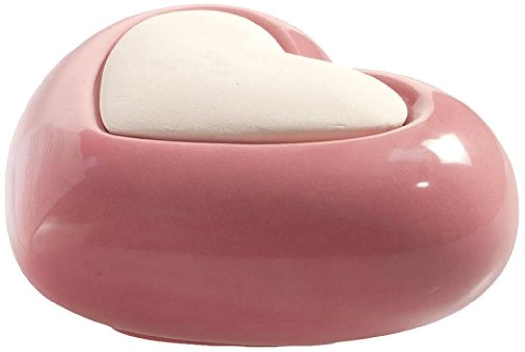 受け入れたスティック反逆者Millefiori HEART ルームフレグランス用 ハート型セラミックディフューザー ピンク LDIF-CM-008