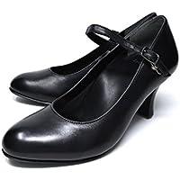 [ アシックス レディーワーカー ] ASICS lady worker 太ヒール ストラップ パンプス ハイヒール 歩きやすい フォーマル lo-33920 レディース ビジネスシューズ ビジネスシューズ