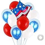 Amosfun アメリカ独立記念日の風船7月4日パーティーの装飾14個