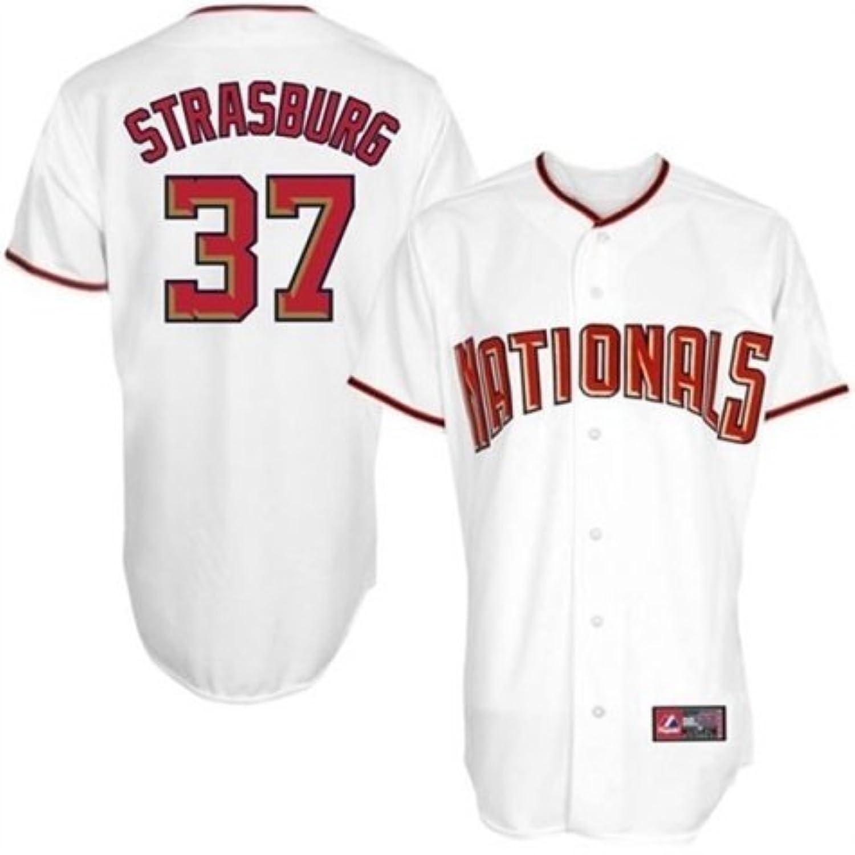 Stephen Strasburgマジェスティックホームホワイトレプリカ# 37 Washington Nationals Jerseyビッグサイズ