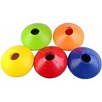 Minidiva ソフトサッカーディスクコーン サッカー フットサル 陸上割れにくい 5色 10枚セット