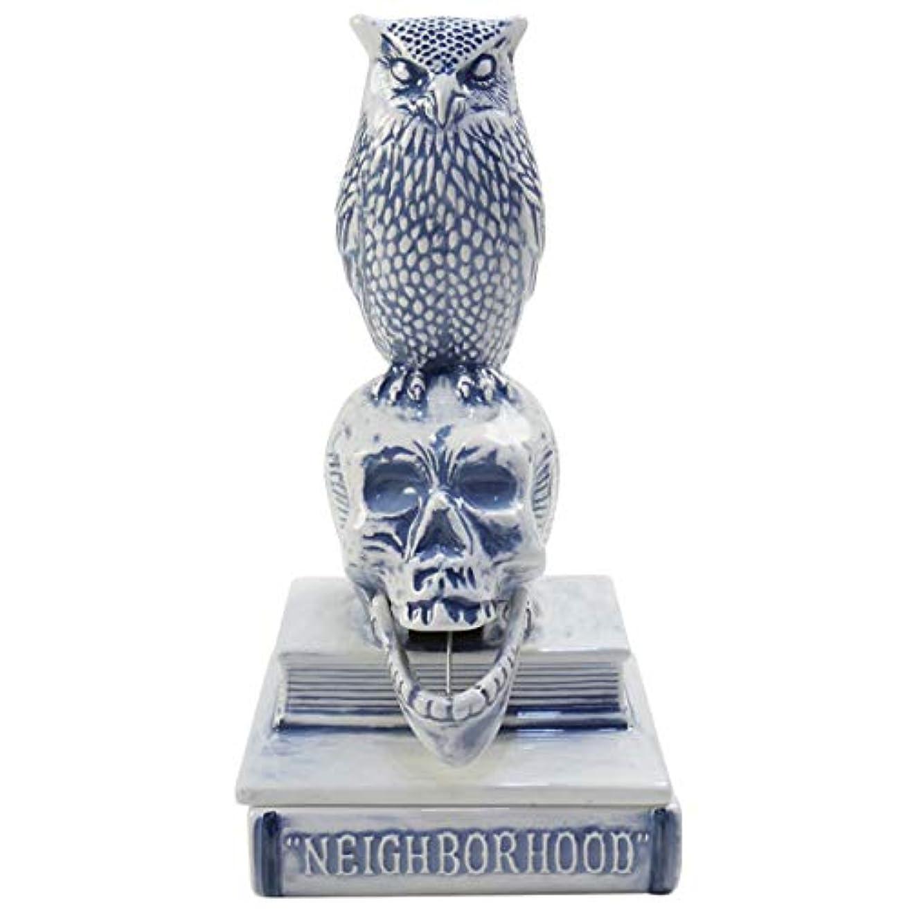 合理化洞窟寄稿者NEIGHBORHOOD ネイバーフッド 18SS OWL-B/CE-INCENSE CHAMBER お香立て 青 フリー