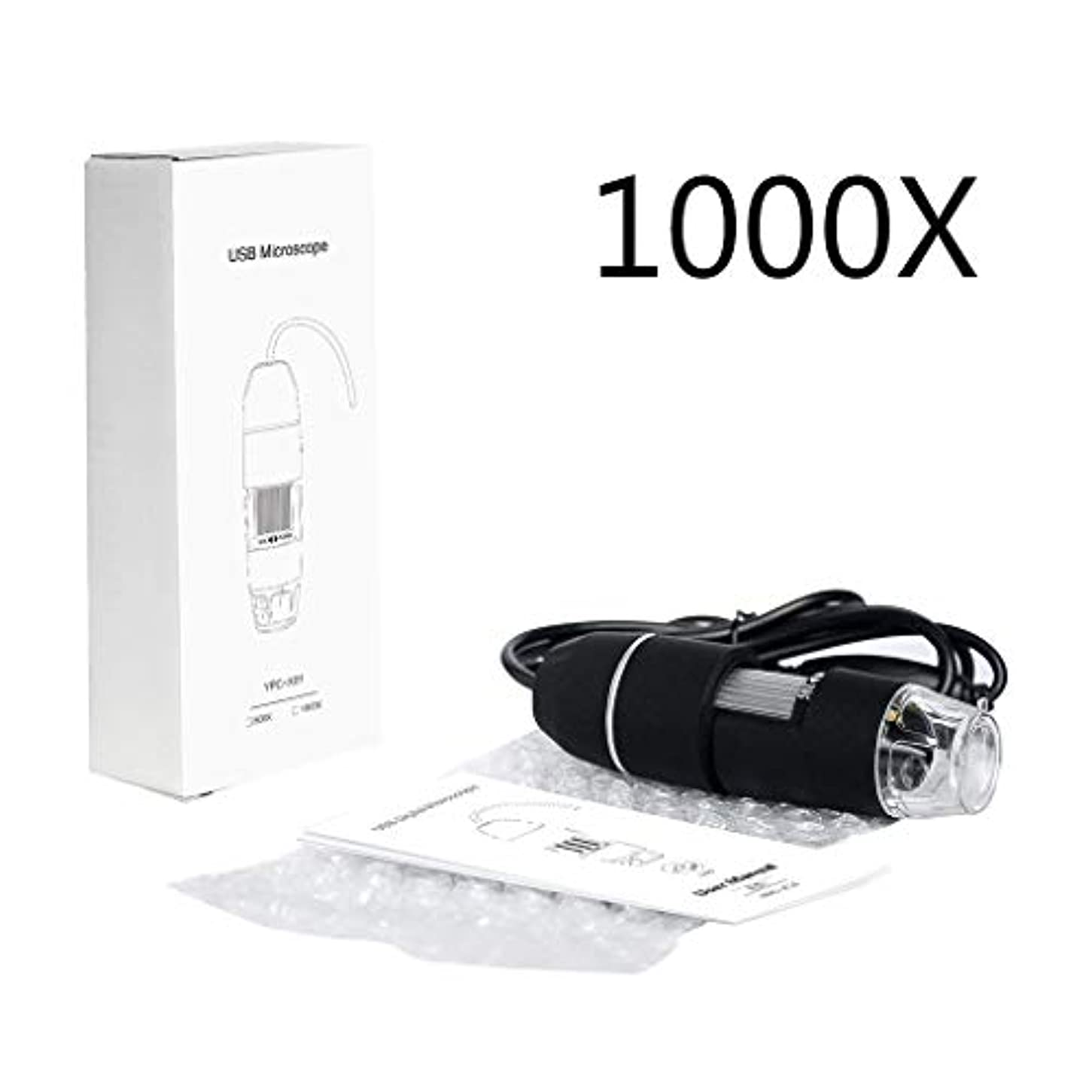 アルコール冷蔵する許容USBマイクロスコープ、電話の修理はんだ、皮膚検査、繊維検査、宝石検査のための8ツェッペリン、多目的拡大鏡顕微鏡、とハンドヘルド1000XデジタルUSB顕微鏡