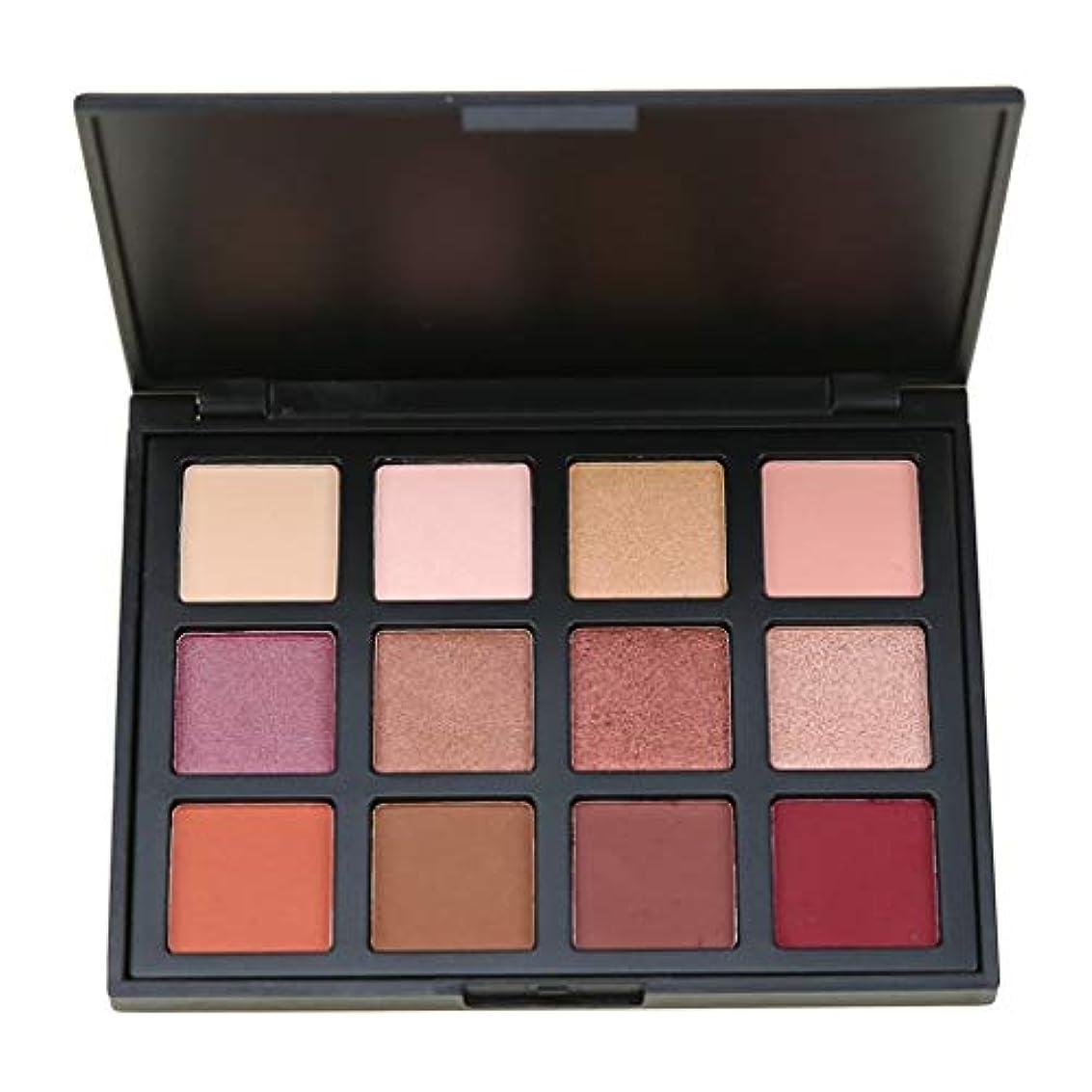 褐色バイナリ地下YHSUNN 12色スモーキーアイシャドウパレット長持ち化粧アイシャドウ防水美容マット化粧品セット