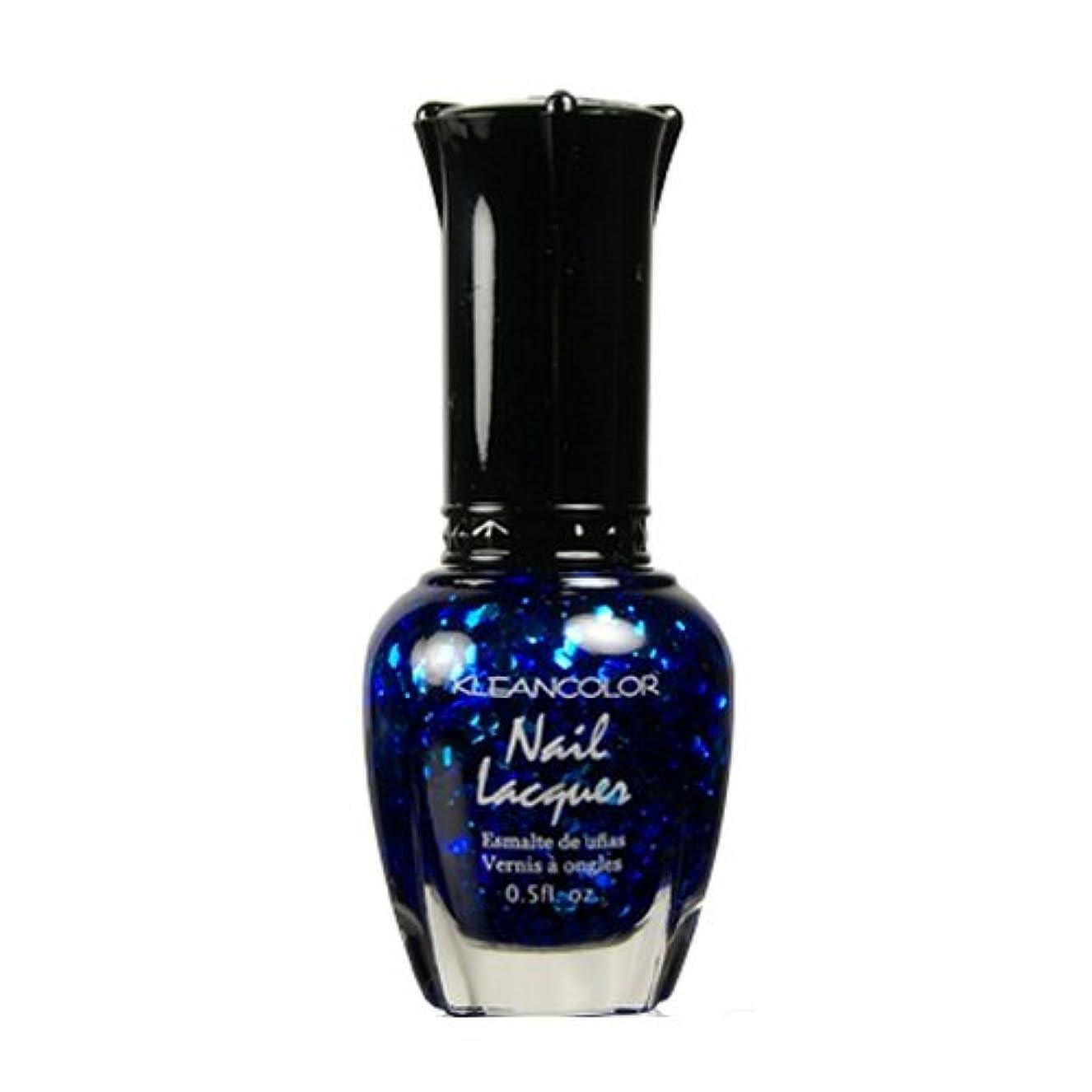 避ける分泌する決して(3 Pack) KLEANCOLOR Nail Lacquer 4 - Blue-eyed Girl (並行輸入品)