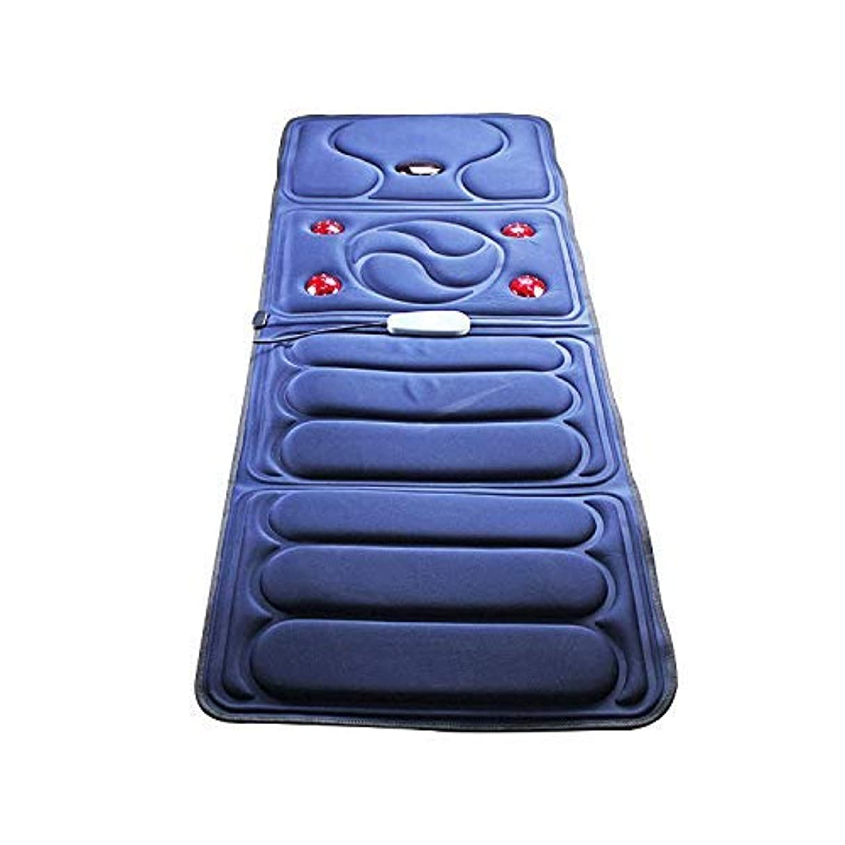 使い込む病弱小石折り畳み式全身マッサージブランケット中高年のヘルスケアマッサージクッション多機能加熱ショックマッサージクッション家庭用マッサージ機器,ブルー