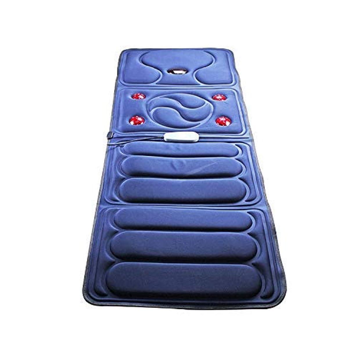 リテラシーみなさん立ち向かう折り畳み式全身マッサージブランケット中高年のヘルスケアマッサージクッション多機能加熱ショックマッサージクッション家庭用マッサージ機器,ブルー