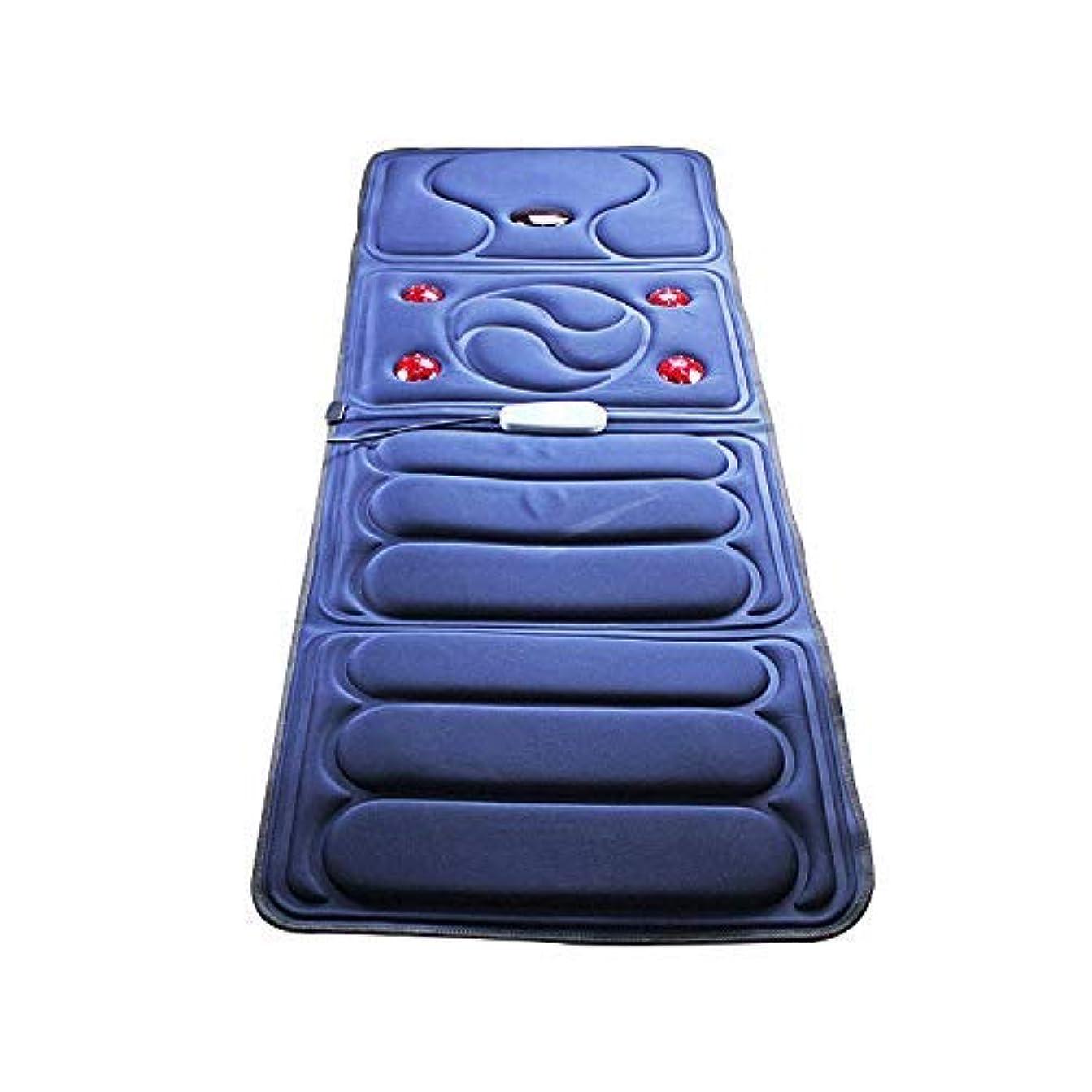 さらに拮抗継続中折り畳み式全身マッサージブランケット中高年のヘルスケアマッサージクッション多機能加熱ショックマッサージクッション家庭用マッサージ機器,ブルー