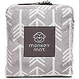 Monkey Mat Lightweight Luxurious Plush Mat, Gray Arrow,