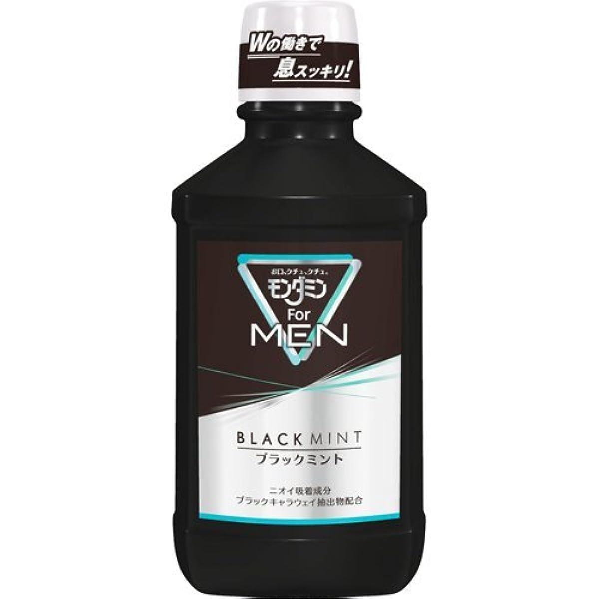 すごい看板排他的アース製薬 モンダミン For MEN ブラックミント 600mL