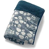 [ベルメゾン] もこもこ シープ調 吸湿 発熱 ボア あったか つつ毛布 (R) おこじょと山猫 タイプ:ワイド