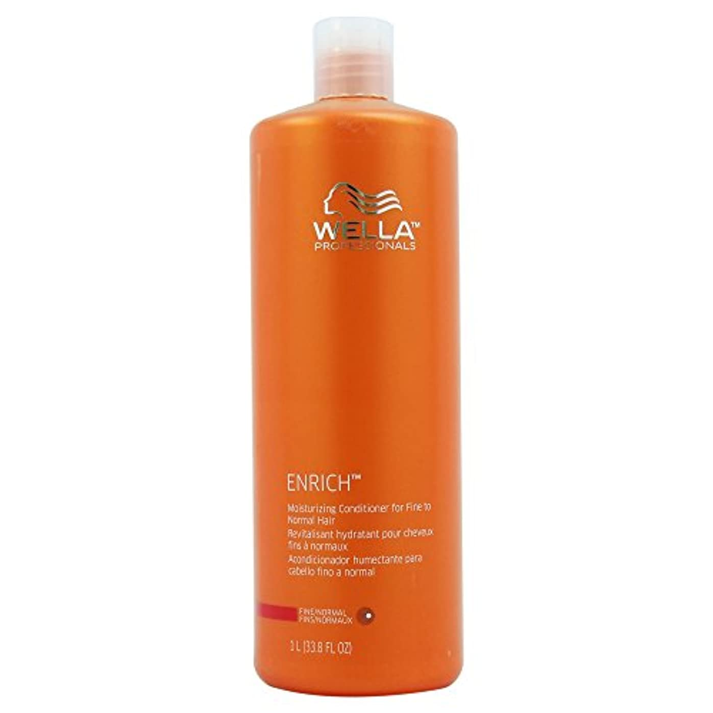 モノグラフ原理満了Wella Enriched Moisturizing Conditioner for Fine To Normal Hair for Unisex, 33.8 Ounce by Wella