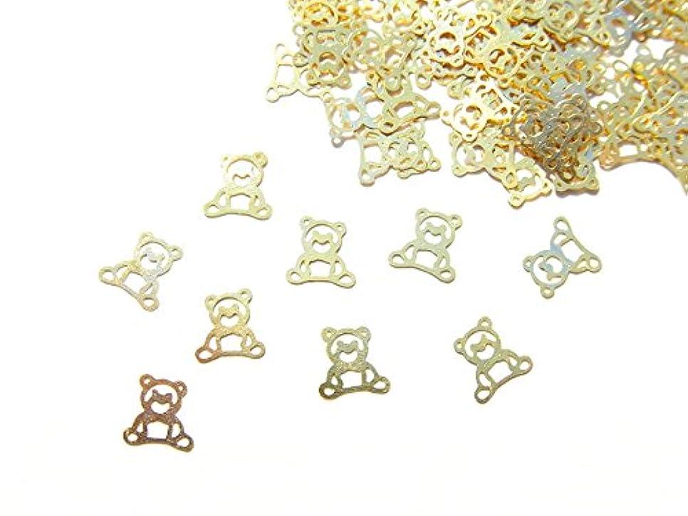 クラブギャラリー適度に【jewel】ug20 薄型ゴールド メタルパーツ クマ 熊10個入り ネイルアートパーツ レジンパーツ