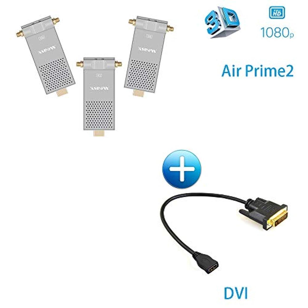 ソフィー重々しい。HDMIワイヤレスエクステンダー 5.8GHz HDMIトランスミッターレシーバー 200M/656フィート 1080P ビデオオーディオ 3D HDMI送信機 DVIケーブル付属