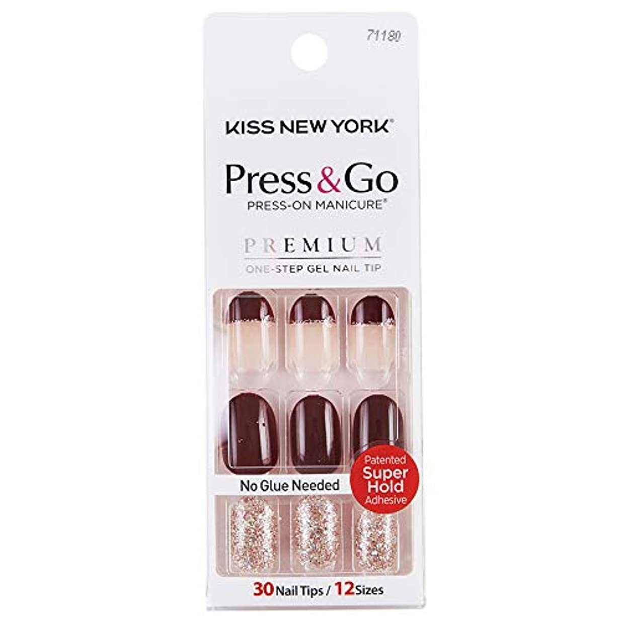 ユーモラス振動させるカビキスニューヨーク (KISS NEW YORK) KISS NEWYORK ネイルチップPress&Go BHJ29J 19g