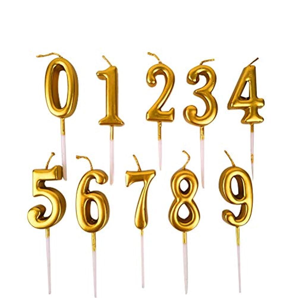 怖がって死ぬメールを書くピアースNUOBESTY 誕生日数字キャンドル、10ピース番号0-9グリッターケーキトッパー装飾用誕生日パーティーの好意