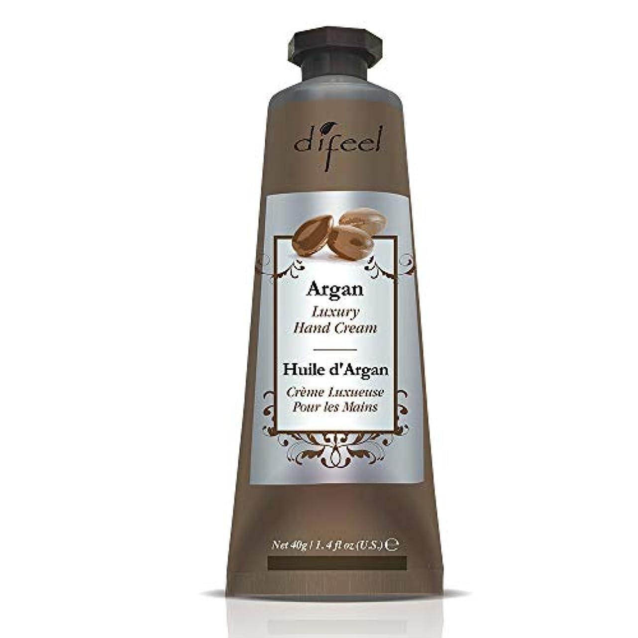 訴える伴う無臭Difeel(ディフィール) アルガン ナチュラル ハンドクリーム 40g ARGAN 12ARG New York 【正規輸入品】