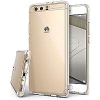 Huawei P10 Plus ケース, Ringke [FUSION] [米軍MIL規格取得 落下衝撃吸収][アンチダストプラグ・ストラップ取付可能ホール] クリスタル透明 クリアPC ソフトTPU Huawei社 P 10 プラス SIMフリー 用 シンプル スリムデザイン 軽量フォンカバー 充電ケーブル・イヤホンジャック差込口のカバーが付 (HuaweiP10Plus, Clear/クリア)