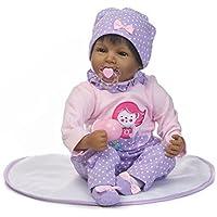 ハンドメイドビニールブラックIndianソフトシリコンReborn人形Realistic Lookingベビー女の子新生児人形幼児用22インチ55 cmマグネットおしゃぶり