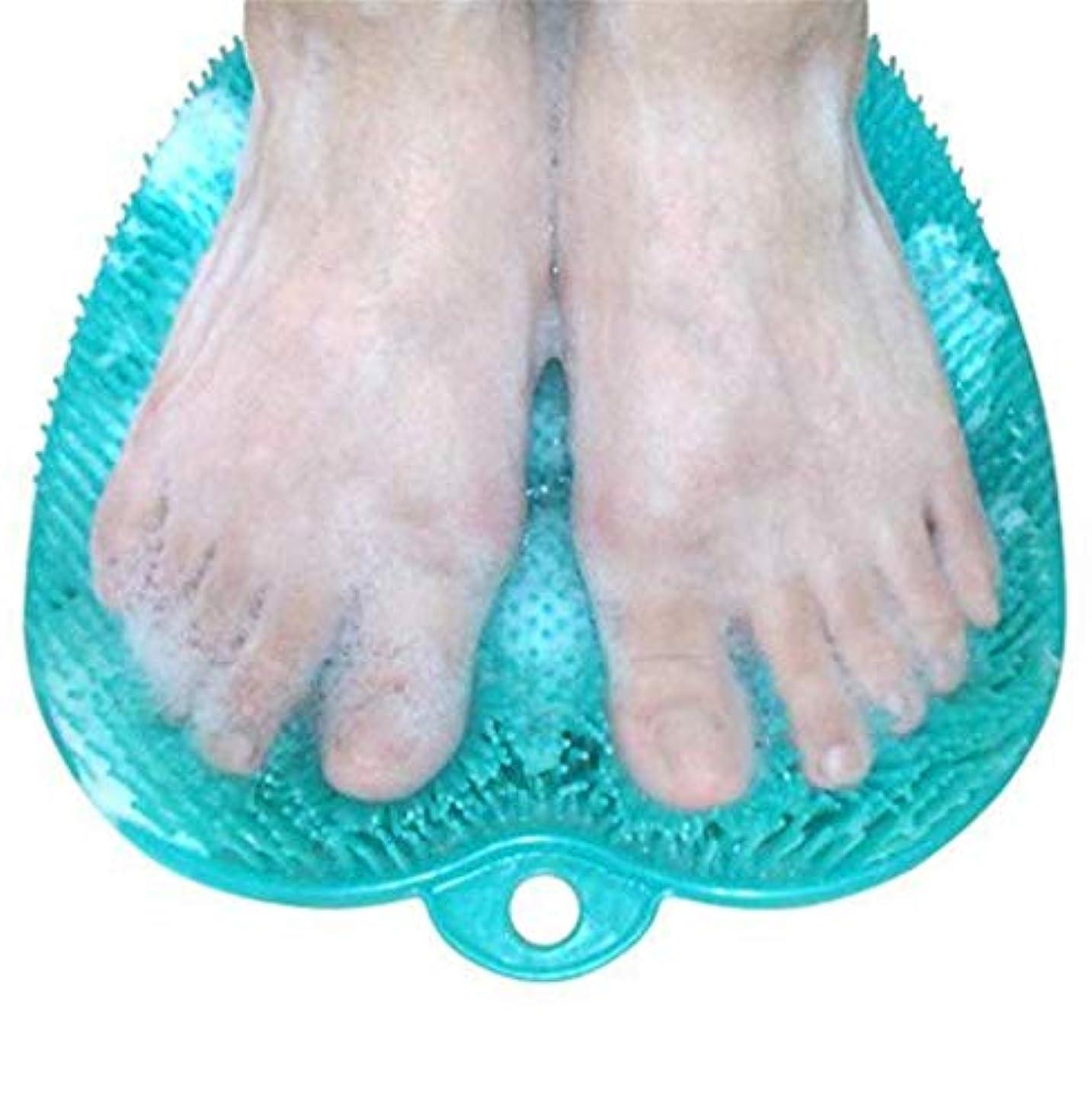 外部凝視入手します滑り止めの吸引のコップが付いているNewthinkingのフィートのスクラバーの洗剤のマッサージャーのマッサージャーのブラシおよびフットケアのための柔らかい足の指圧のマッサージのマット