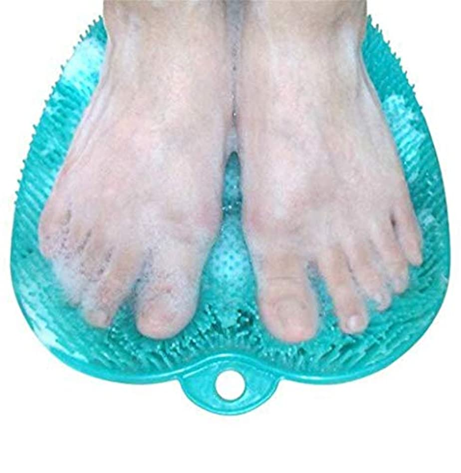 滑り止めの吸引のコップが付いているNewthinkingのフィートのスクラバーの洗剤のマッサージャーのマッサージャーのブラシおよびフットケアのための柔らかい足の指圧のマッサージのマット