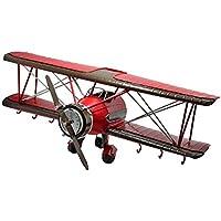 ZYH 創造的なストレージラック、装飾バー航空機レトロ多機能ストレージラックコーヒーショップストレージラック格子鉄ストレージラック16 * 16 * 42CM ストレージ機能 (サイズ さいず : 16 * 16 * 42CM)