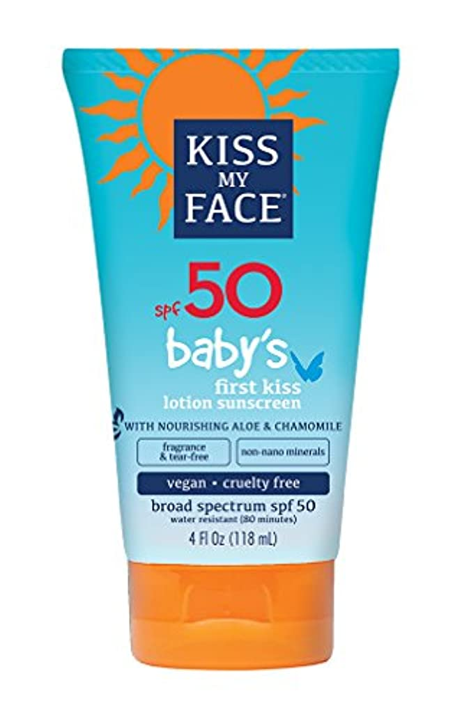 給料発明思い出すKiss My Face Sunscreen - Mineral - Lotion - Babys First Kiss - SPF 50 - 4 oz