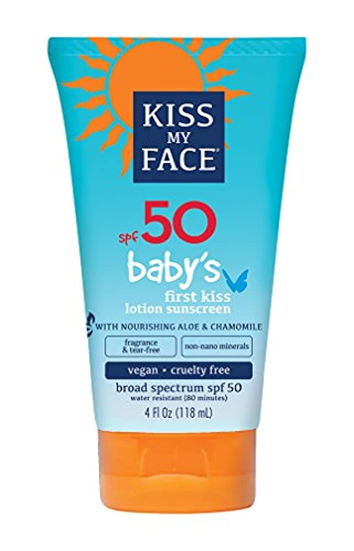 印をつける過言ホステスKiss My Face Sunscreen - Mineral - Lotion - Babys First Kiss - SPF 50 - 4 oz