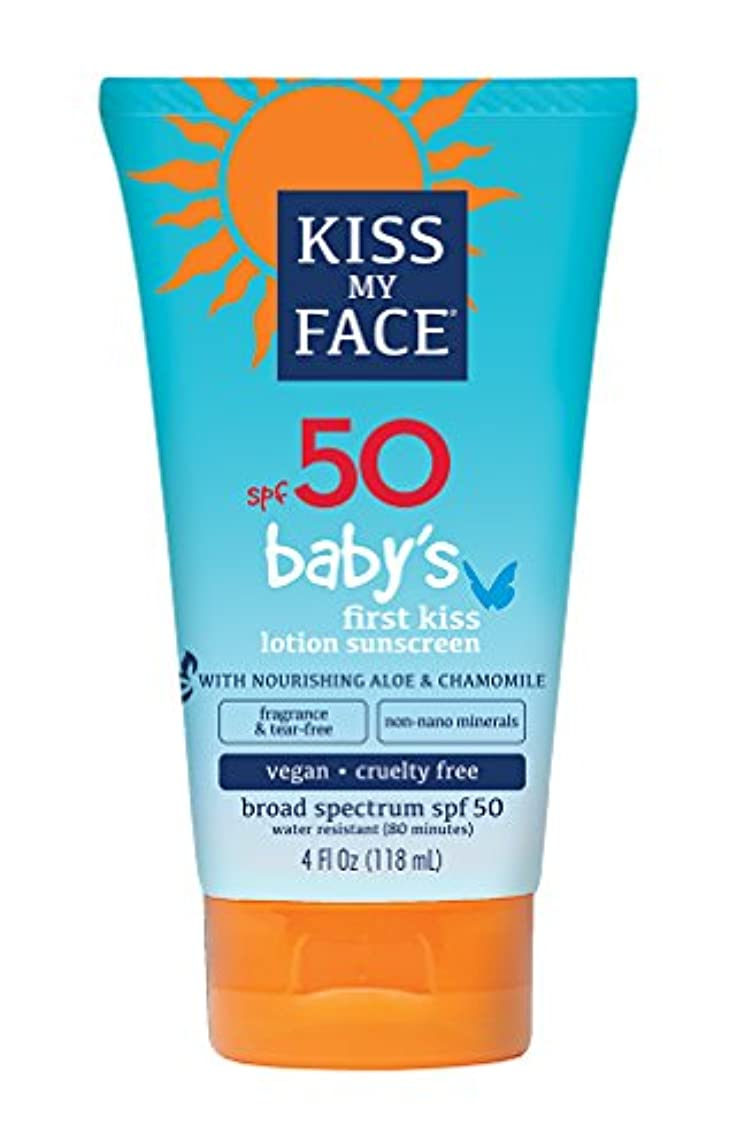 ミント汚れるまでKiss My Face Sunscreen - Mineral - Lotion - Babys First Kiss - SPF 50 - 4 oz
