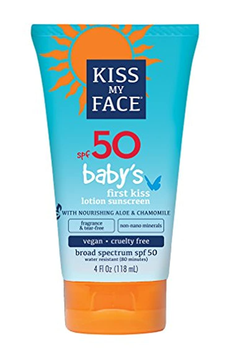 ゴールド行動外科医Kiss My Face Sunscreen - Mineral - Lotion - Babys First Kiss - SPF 50 - 4 oz
