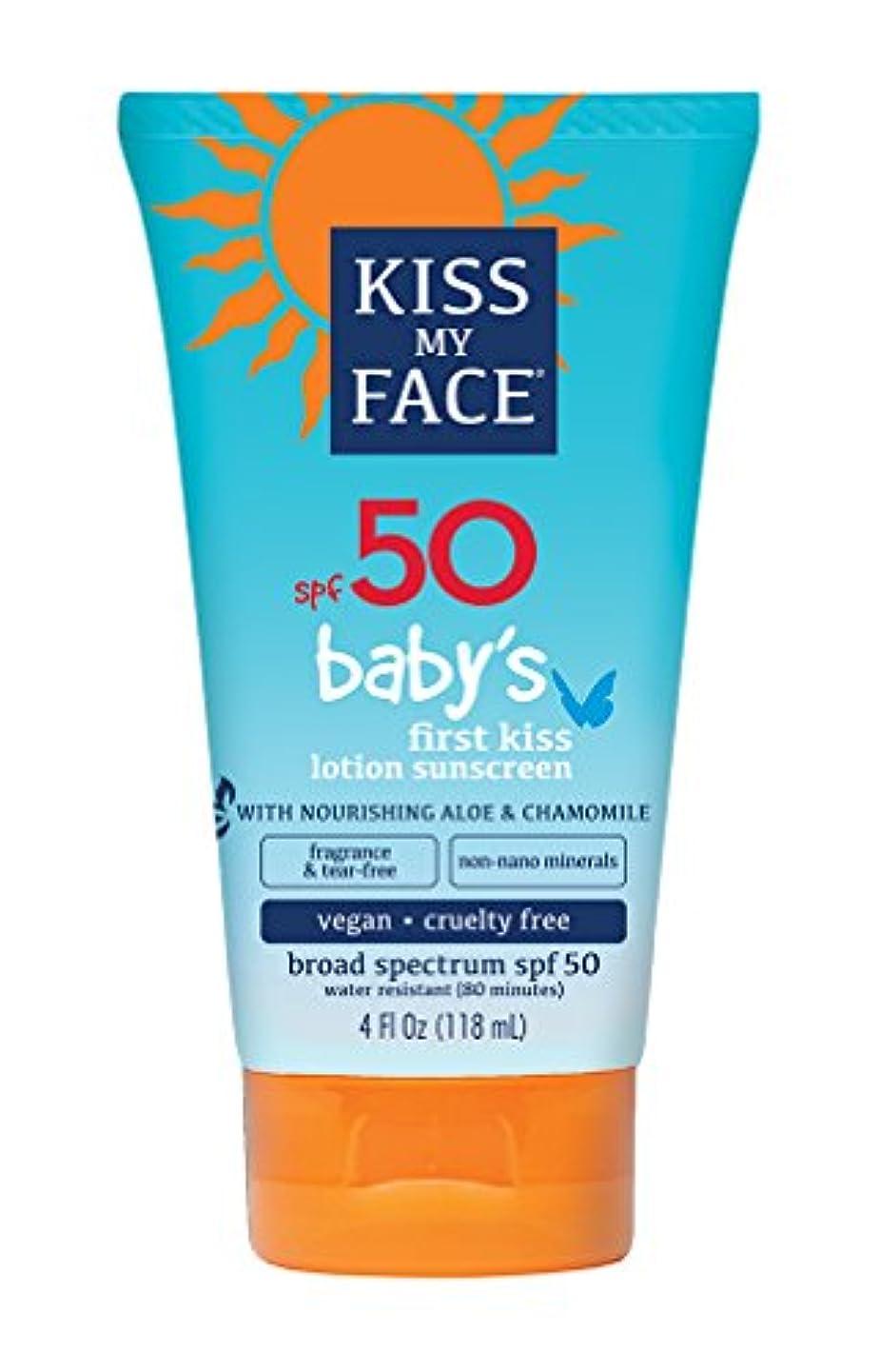 熱帝国主義飢えたKiss My Face Sunscreen - Mineral - Lotion - Babys First Kiss - SPF 50 - 4 oz