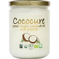 COCOCURE 有機 JAS オーガニック フェアトレード エキストラ バージン ココナッツオイル コールドプレス製法 1個