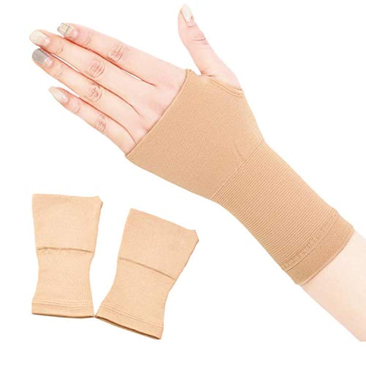 修道院鎮痛剤発明関節痛のための2個の手首サポート手首ラップブレース手根管腱鞘炎圧縮弾性ソフト加リストバンドグレート,L