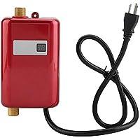 110V 3400W 給湯器 ミニ電気タンクレスインスタント ホットウォーターヒーター バスルーム キッチン 洗濯(01)