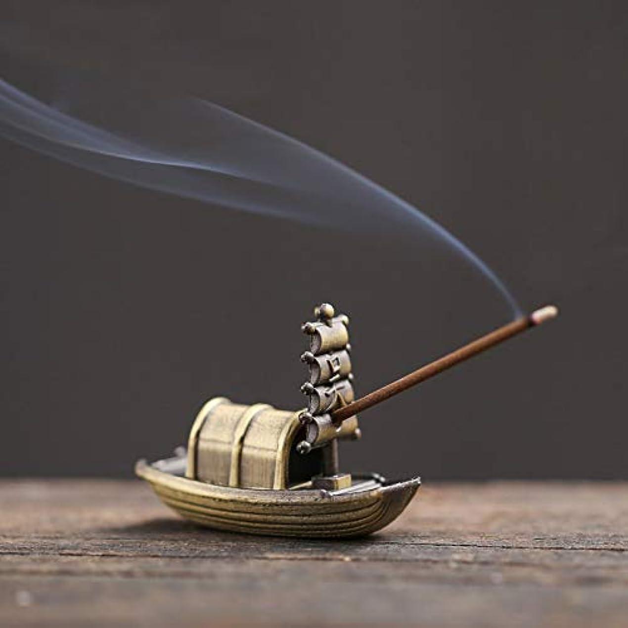 火曜日放牧する割るPHILOGOD 香炉 合金ミニセーリングモデリング線香立て お香 ホルダー 香置物