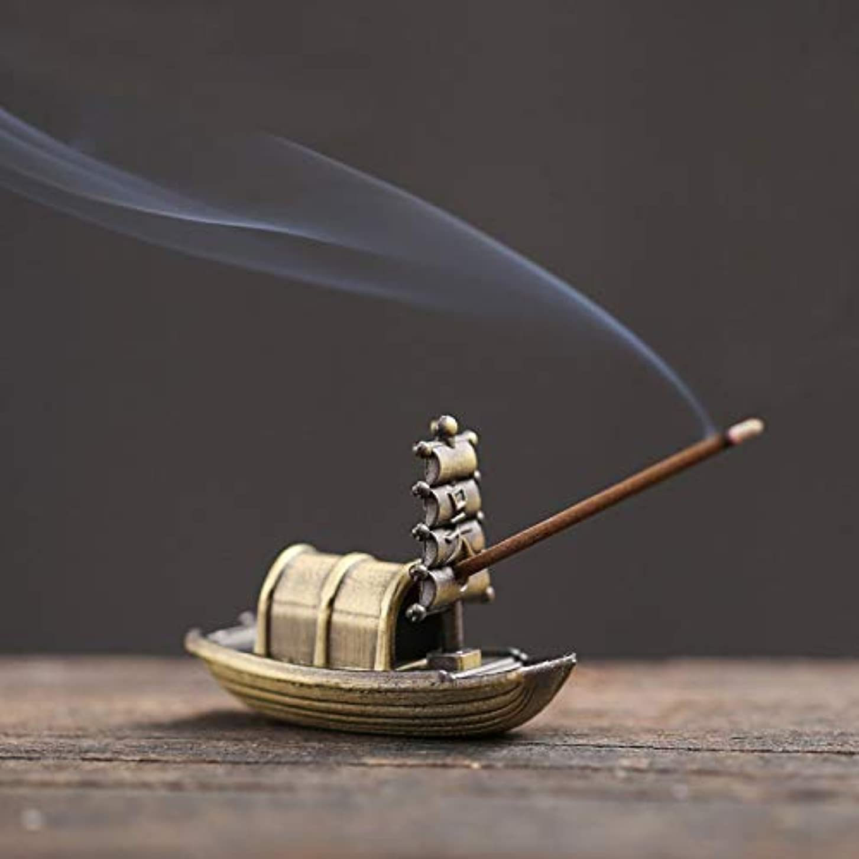 名前で接続詞ワイヤーPHILOGOD 香炉 合金ミニセーリングモデリング線香立て お香 ホルダー 香置物