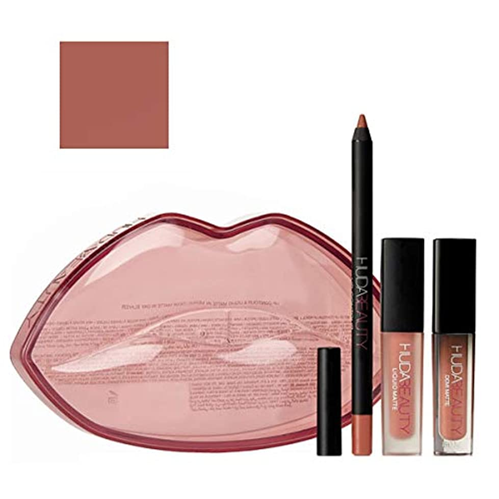 HUDA BEAUTY 限定版 Demi Matte & Cream Lip Set - Mogul & Bombshell [海外直送品] [並行輸入品]