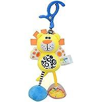 ベビーカー用玩具 ひっぱる動物おもちゃ ガラガラおもちゃ かわいい ぬいぐるみ 知育玩具 吊り下げおもちゃ ライオン