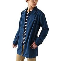 [REPIDO (リピード)] ステンカラーコート 薄手 メンズ コットン ロング スプリングコート ショップコート