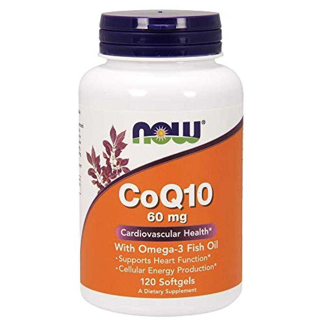 砂利比喩憂慮すべき[海外直送品] ナウフーズ CoQ10?オメガ3魚油配合 120錠